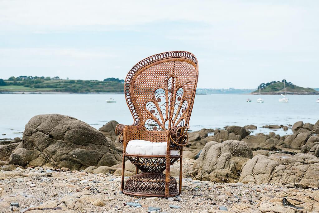 Fauteuil Emmanuelle mariage en Bretagne